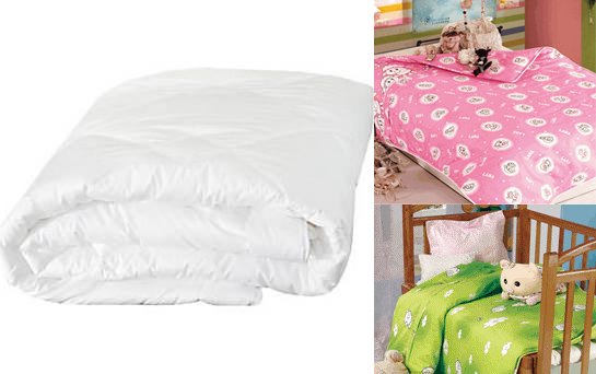 Infant / Baby Size Silk-Filled Comforter Set - 3-piece